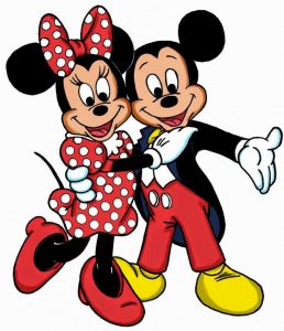 desenho Minnie e mickey
