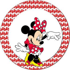 desenho Minnie vermelho